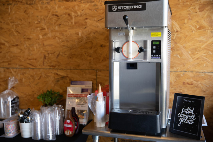 Salted Caramel Gelato Machine by Stoelting from our friends at Swanson-Girard