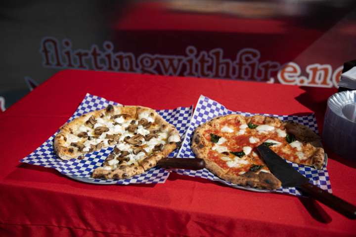 Delicious pizza made in Marra Forni oven