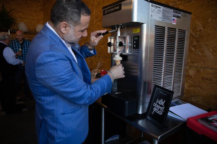 Gelato machine provided by Swanson-Girard & Associates