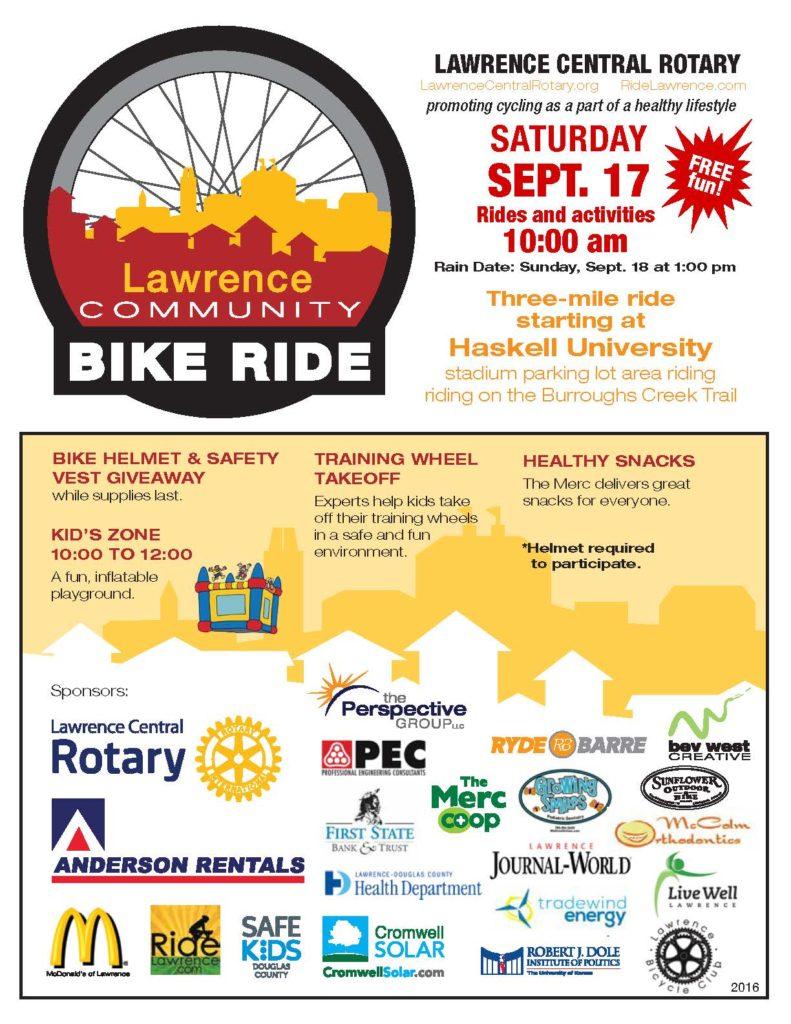 Lawrence Fall Community Bike Ride 2016