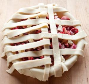applesauce apple pie lattice top pic