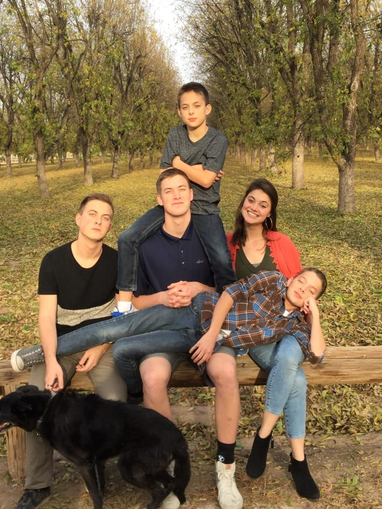 5 kids and a dog
