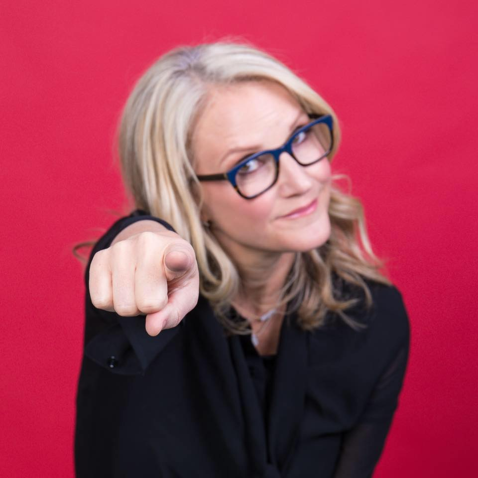 Mel robbins pointing to you. take action!
