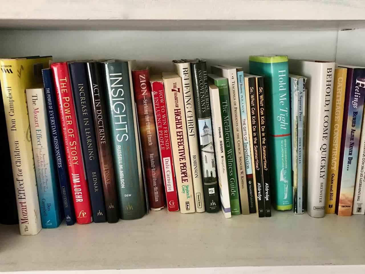 books on Kristin's shelf