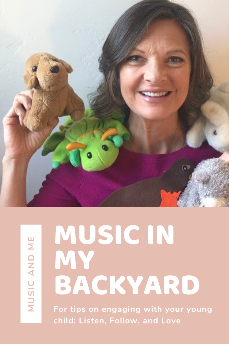 Kristin teaches engaging music classes for young children with stuffed animals and more call Music in my Backyard about creatures and songs about creatures around your home.