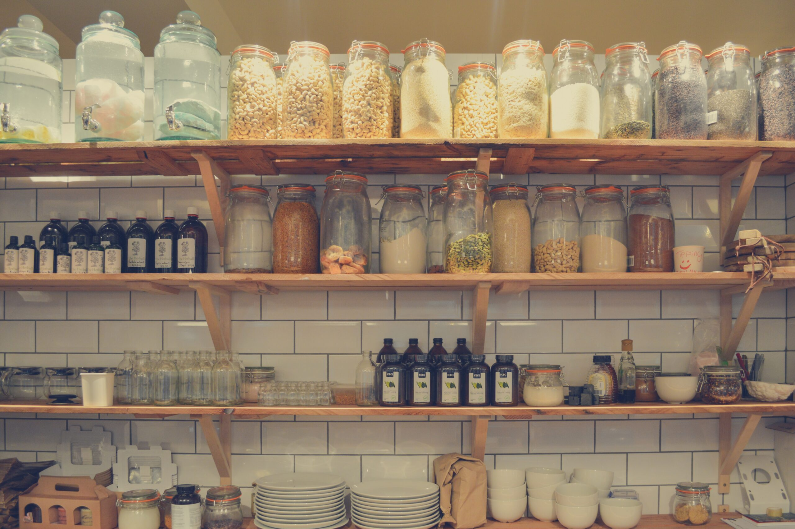 jars on a shelf