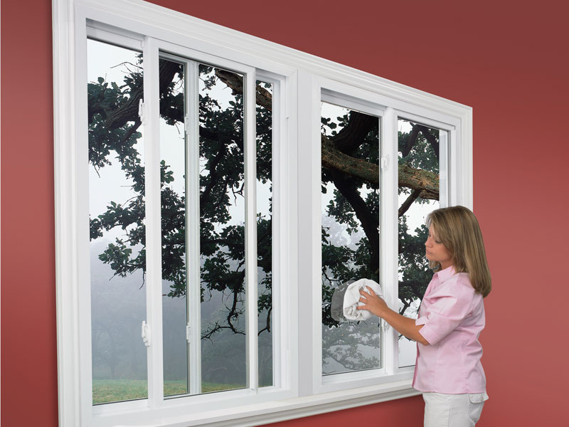 Sliding windows offer maintenance free living with very little upkeep