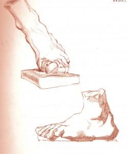 Foot visible break