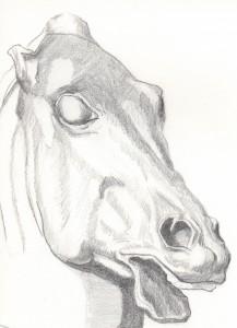 academic horse drawing 23 April 2005 Augsburg