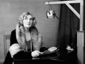 Dame Sybil Thorndike at the BBC