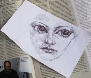 drawing on magazine