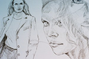 women faces pen
