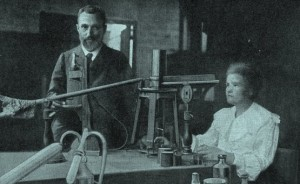 Scientist Madame Marie Curie in her Laboratory