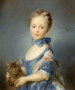 girl with kitten baptiste