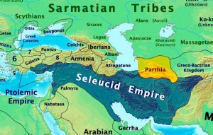 055 Seleucid Empire & Parthian Kingdom 250 BC Map