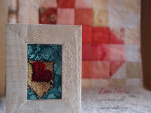 Love Notes Punch Needle Embroidery