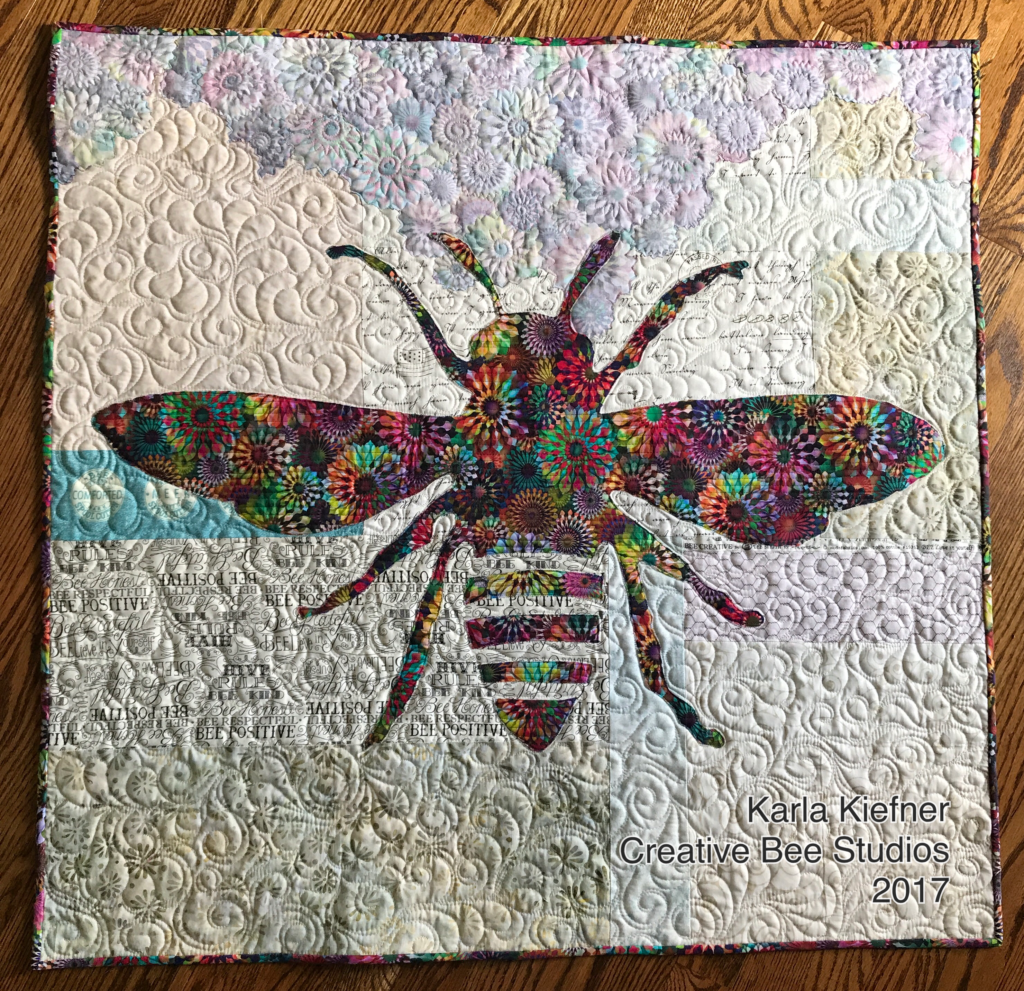 Image of Full Quilt with Bee