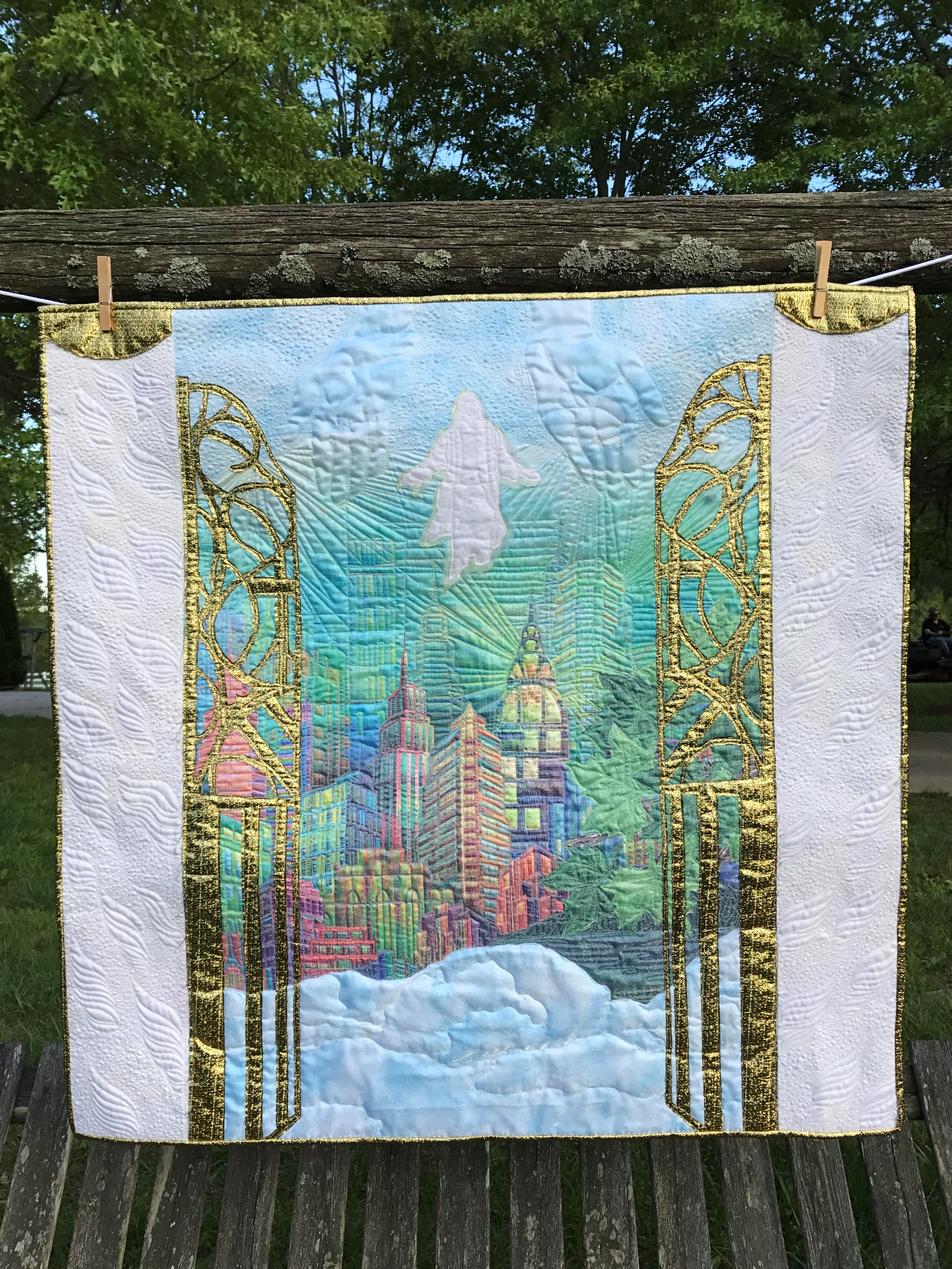 Image of Quilt Depicting Heaven