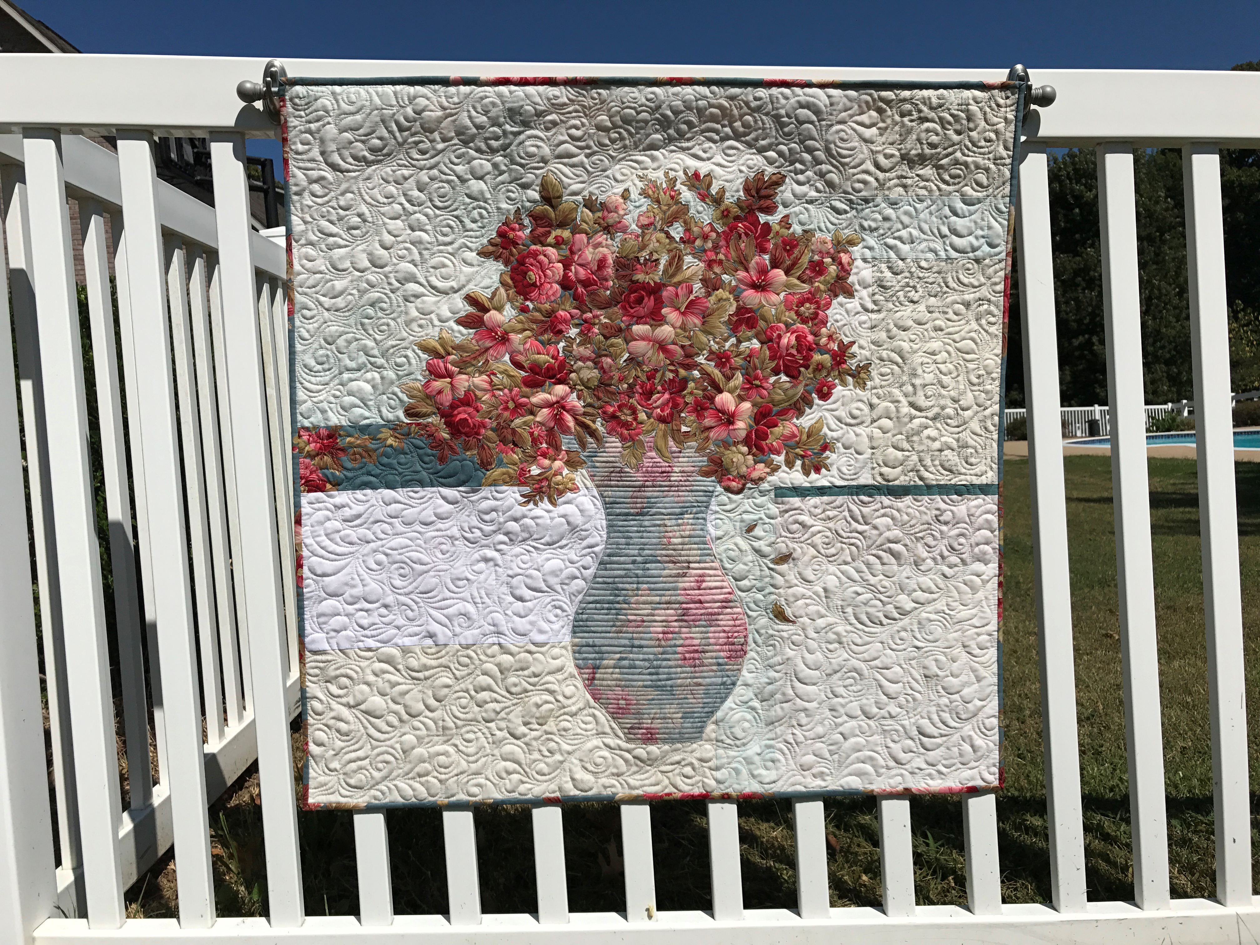 Image of Quilt Hanging on Fence