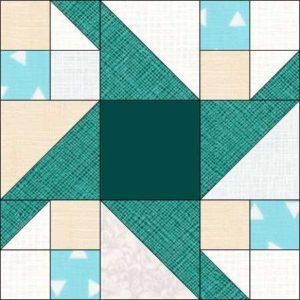 Image of Paddle Wheel Quilt Block