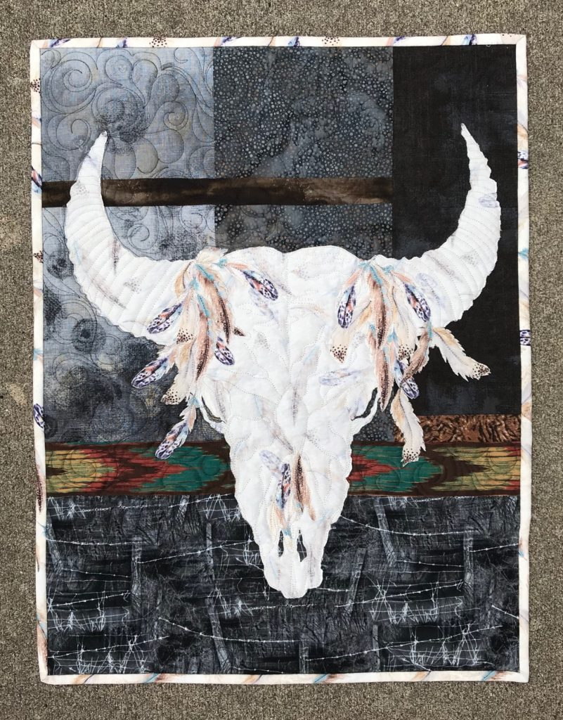 Image of Bison Skull Quilt