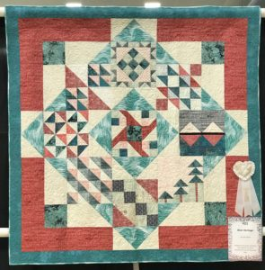 Image of Quilt with Ribbon