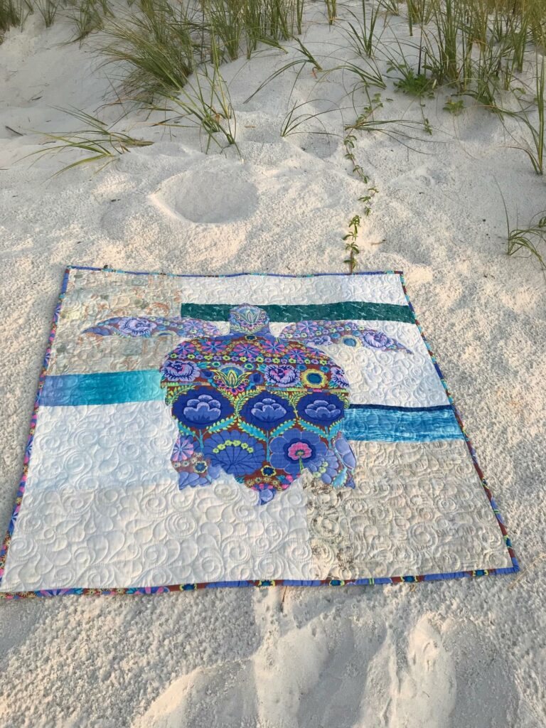 Image of Sandy Quilt on Sand.
