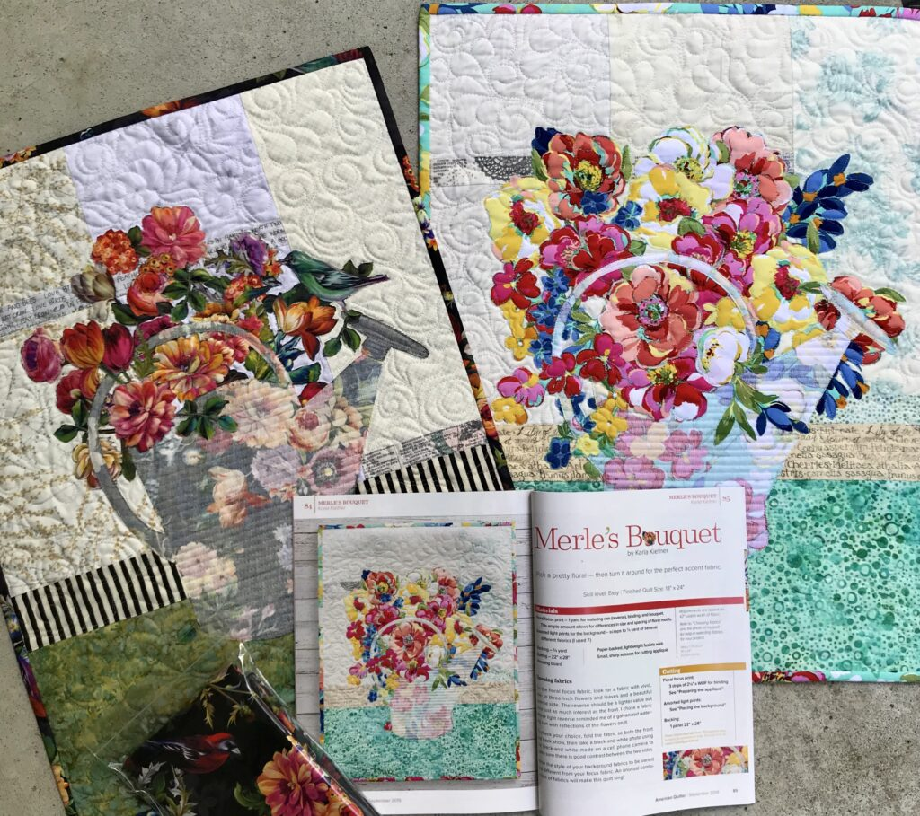 Image of Quilt displaying how to use both beautiful sides of fabric