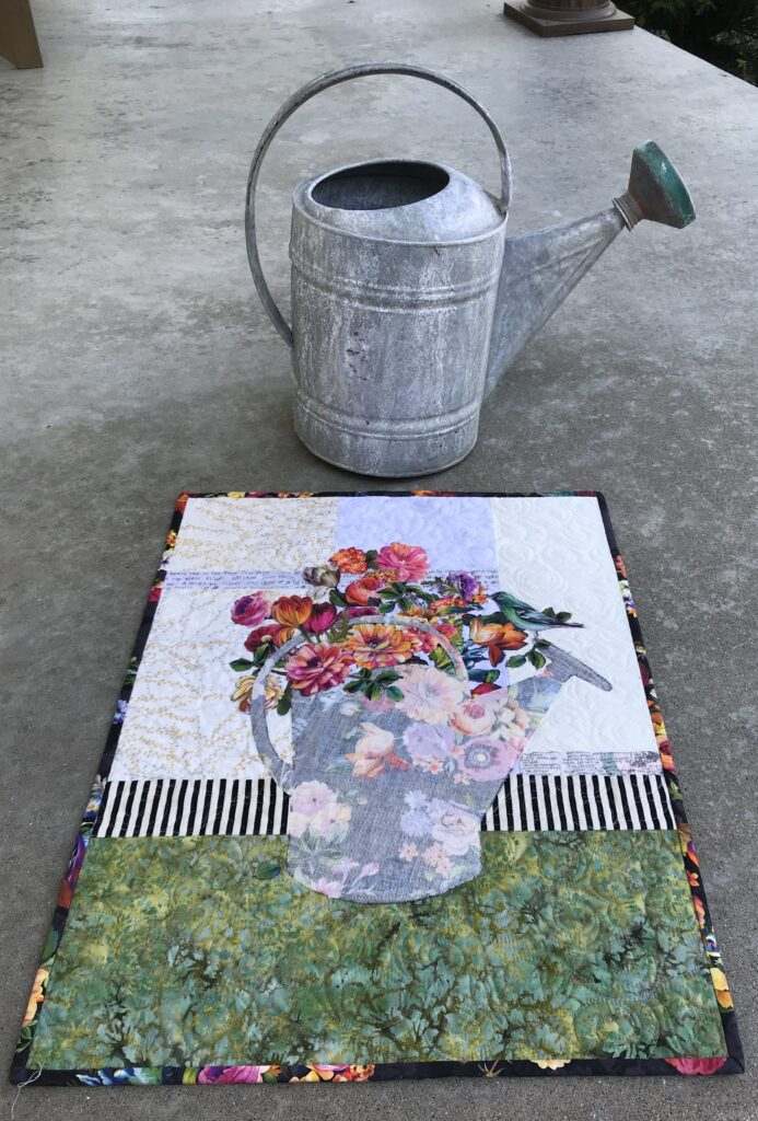 Image of Quilt and Watering Can