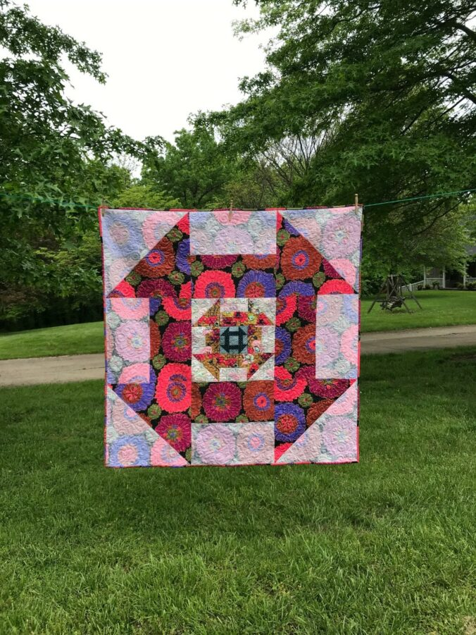 Image of Quilt Hanging on Line