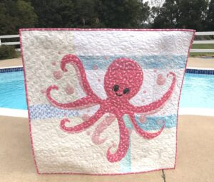Image of Octopus Quilt by Pool