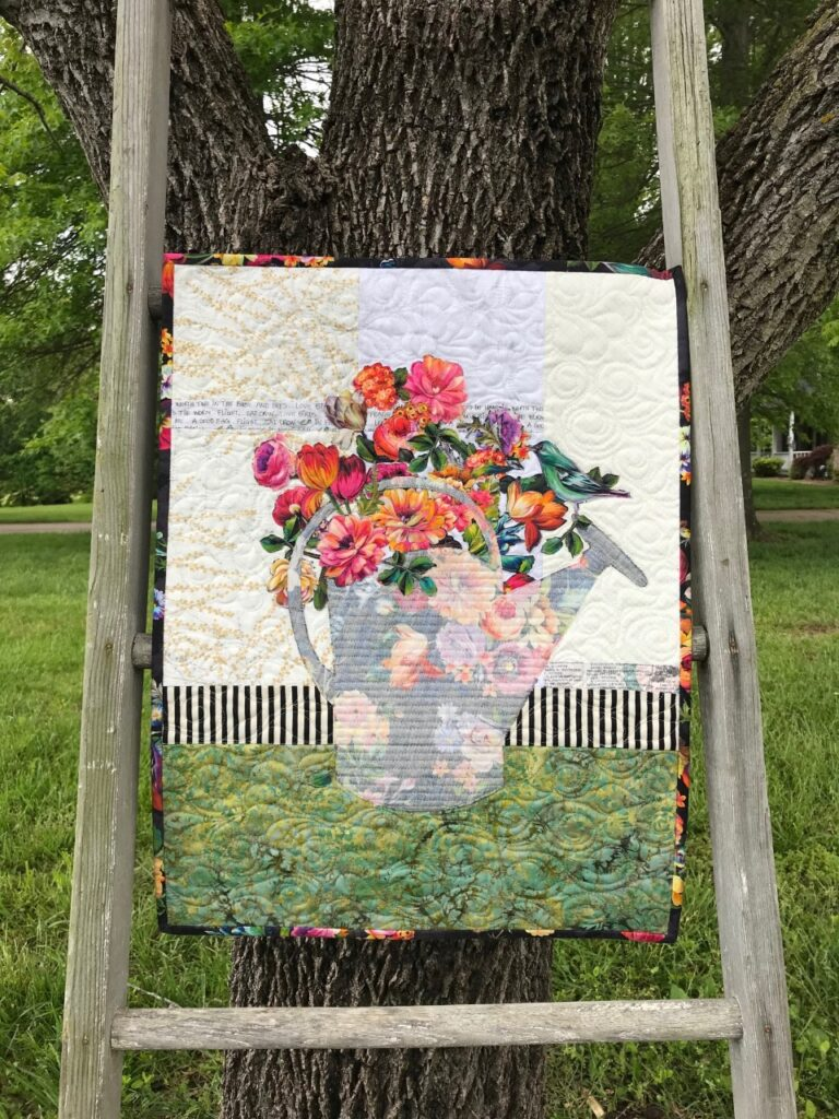 Merle's Bouquet Quilt made with Modern Broderie Perse