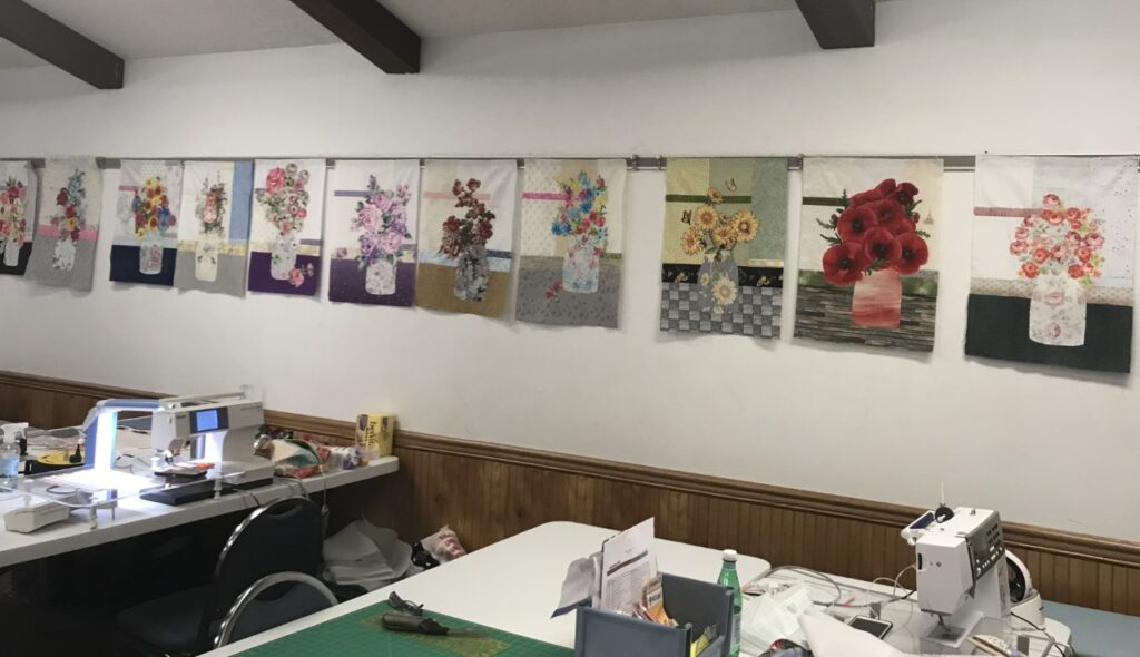 Modern Broderie Quilts Made in Class