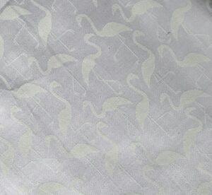 Image of White on White Flamingo Fabric