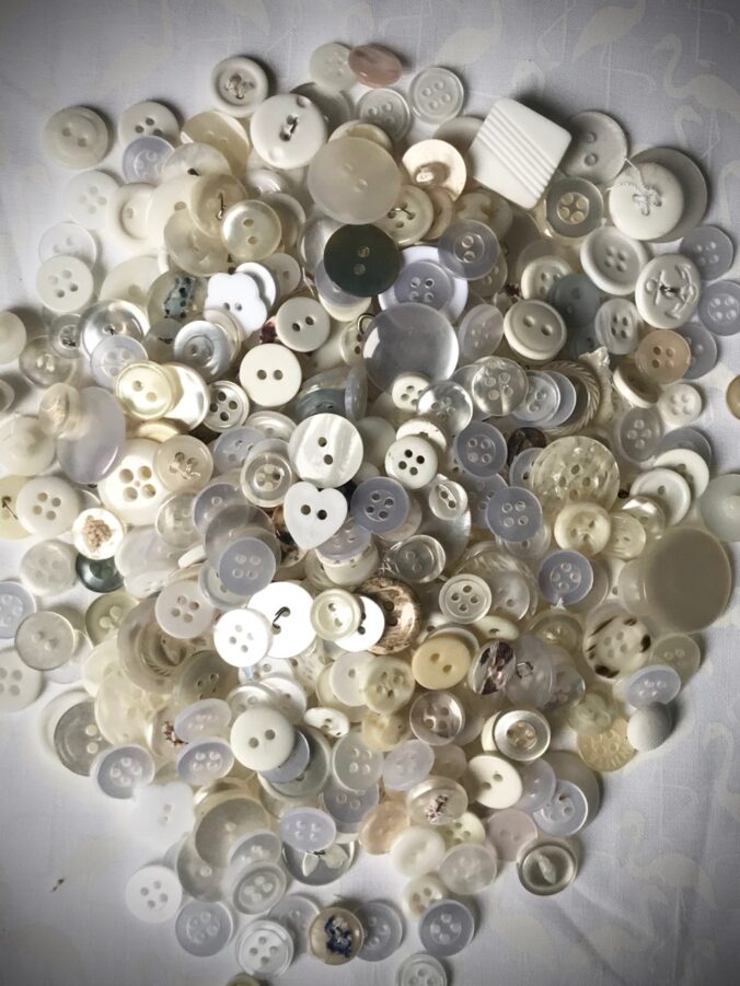 Using White in Quilts Button Collection
