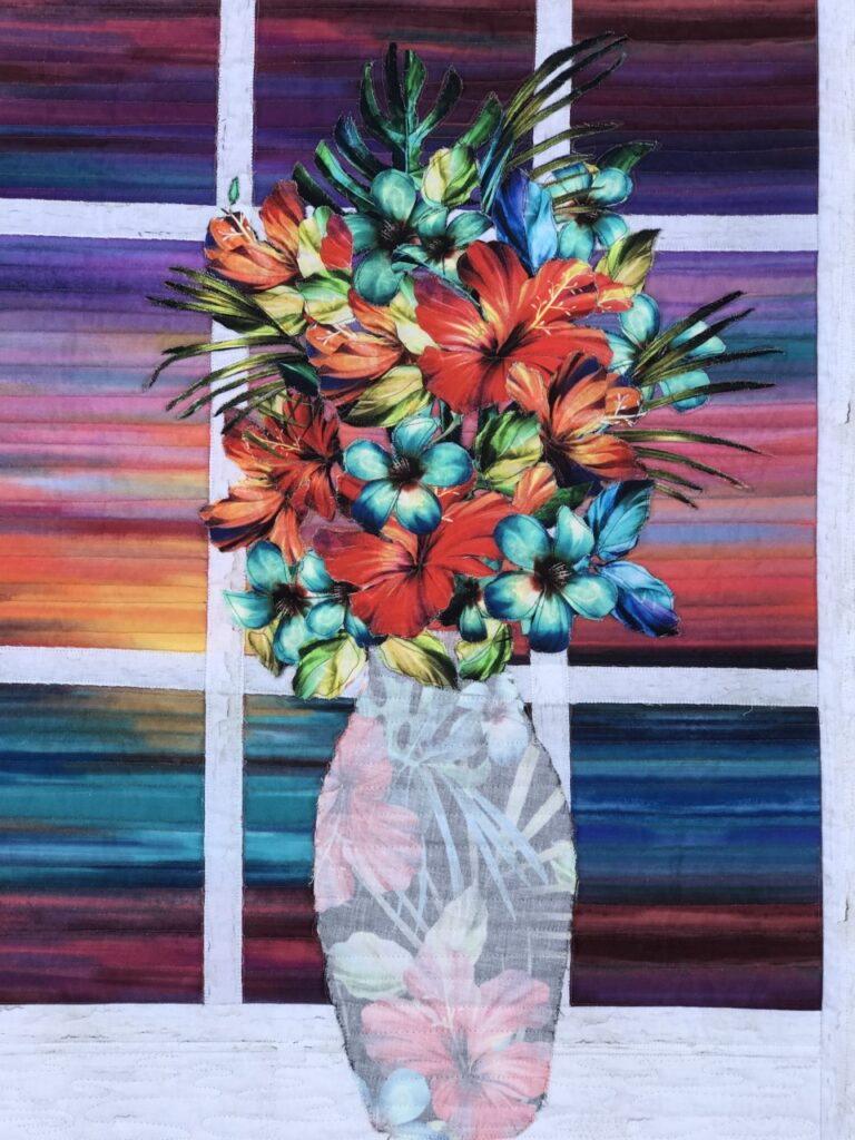 Image of Modern Broderie Perse Tropical Sunset