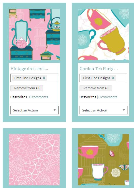 Image of Garden Tea Party New Textile Designs