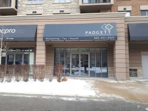 Padgett Business Services Awning Installation in Burlington ON