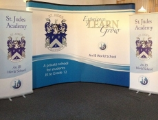 St. Jude trade show banner