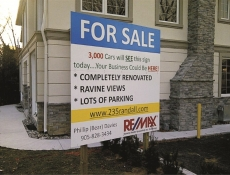 For sale construction sign
