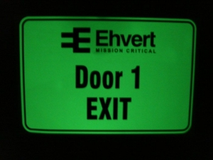 Exit directional sign - after