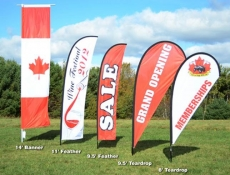 Outdoor flag banners