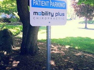 Mobility Plus Parking Sign in Oakville