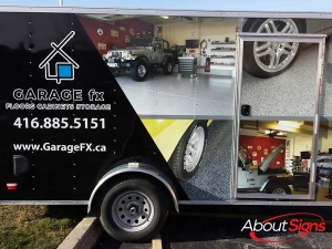 Trailer wrap decals Oakville ON