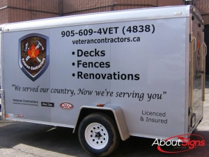 Utility trailer wrap decal Oakville ON
