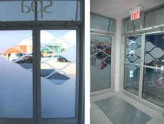 Frosted Etch window sign for SPA