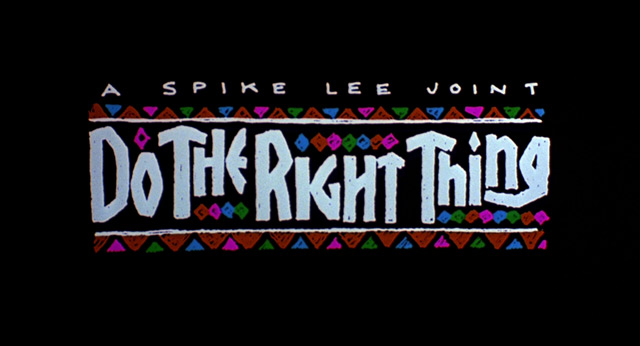 do the right thing movie title 1989