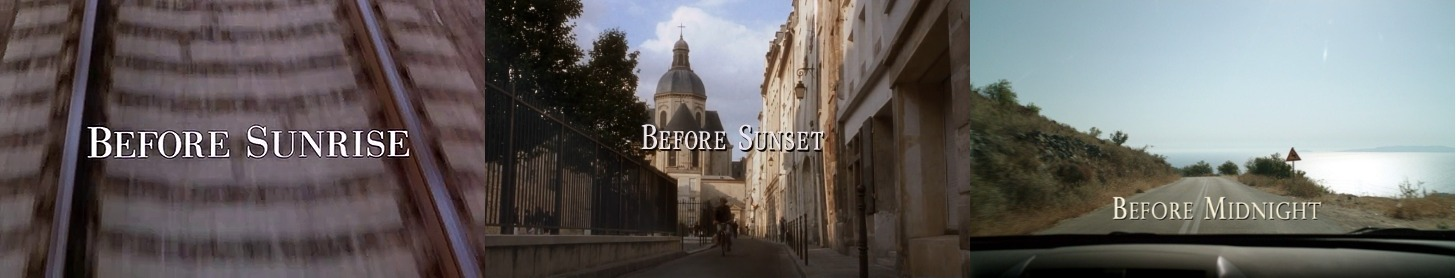 The Before Trilogy - Title Cards