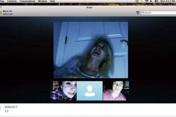 Screenshot of horror film, 'Unfriended'