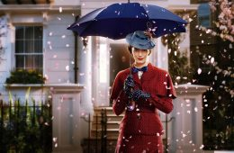 Image of Emily Blunt in an animation sequence for Mary Poppins Returns